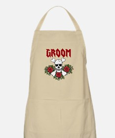 Groom Skull and Roses Apron