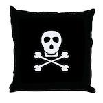 Pirate Skull & Crossbones Throw Pillow