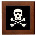 Pirate Skull & Crossbones Framed Tile