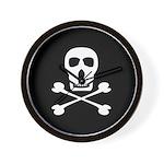 Pirate Skull & Crossbones Wall Clock