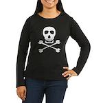 Pirate Skull & Crossbones Women's Long Sleeve Dark