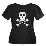 Pirate Skull & Crossbones Women's Plus Size Scoop
