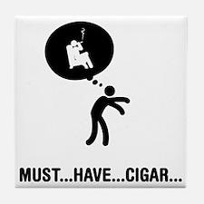 Cigar-Smoking-A Tile Coaster