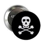 Pirate Skull & Crossbones Button