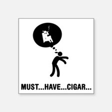 "Cigar-Smoking-C Square Sticker 3"" x 3"""