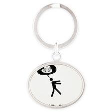 Pancakes-A Oval Keychain