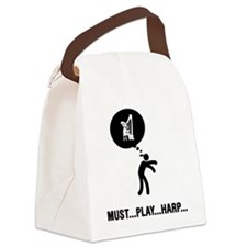 Harp-Player-C Canvas Lunch Bag