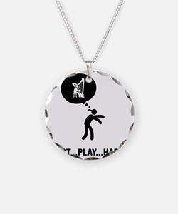Harp-Player-C Necklace Circle Charm