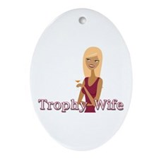 Mauve Trophy Wife Oval Ornament