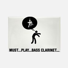 Marching-Band---Bass-Clarinet-A Rectangle Magnet