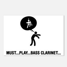Marching-Band---Bass-Clar Postcards (Package of 8)