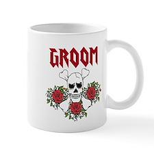 Groom Skull and Roses Mugs