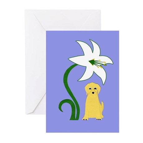 Easter Yellow Lab I Greeting Cards (Pk of 10)
