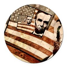 President Abraham Lincoln Patriot Round Car Magnet