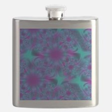 Abstract Purple and Aqua Pattern Flask