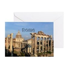 Rome_5.5x7.5_FlatCard_RomanForum Greeting Card