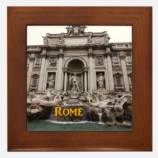 Rome_11x9_TreviFountain Framed Tile