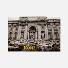 Rome_11x9_TreviFountain Rectangle Magnet