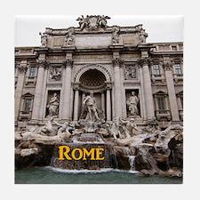 Rome_11x9_TreviFountain Tile Coaster