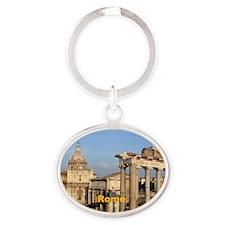 Rome_6x6_RomanForum Oval Keychain