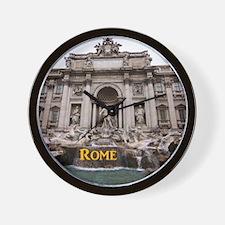 Rome_11x9_TreviFountain Wall Clock