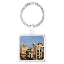 Rome_6x6_RomanForum Square Keychain