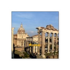 "Rome_6x6_RomanForum Square Sticker 3"" x 3"""