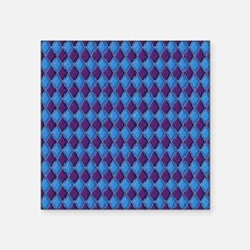 "Blue and Purple Harlequin D Square Sticker 3"" x 3"""