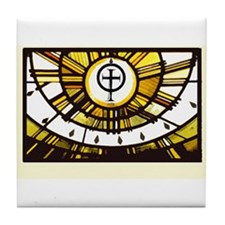 Sunlight and Faith Tile Coaster
