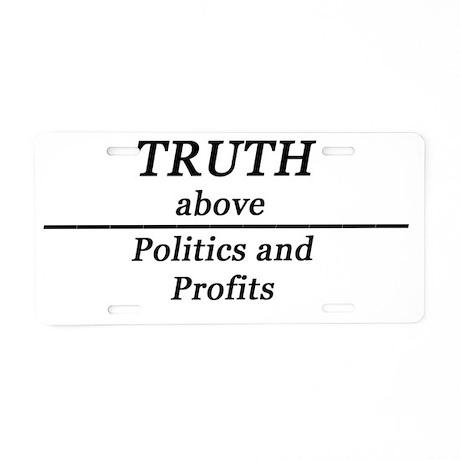 Political Statement Aluminum License Plate