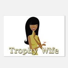 Trophy Wife in Green Postcards (Package of 8)