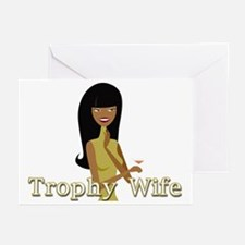 Trophy Wife in Green Greeting Cards (Pk of 10)