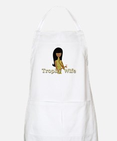 Trophy Wife in Green BBQ Apron