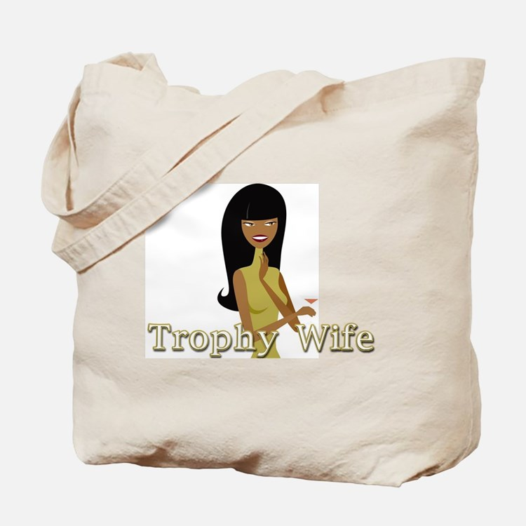 Trophy Wife in Green Tote Bag
