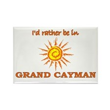 I'd Rather Be In Grand Cayman Rectangle Magnet