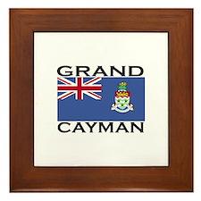 Grand Cayman Flag Framed Tile
