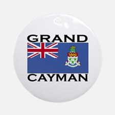 Grand Cayman Flag Ornament (Round)