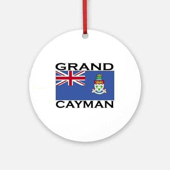 Grand Cayman Flag Ornament (Round)