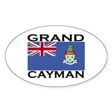 Grand Cayman Flag Oval Decal