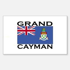 Grand Cayman Flag Rectangle Decal