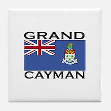 Grand Cayman Flag Tile Coaster