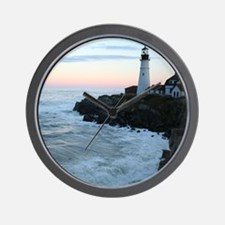 Portland Head Lighthouse at Sunset Wall Clock