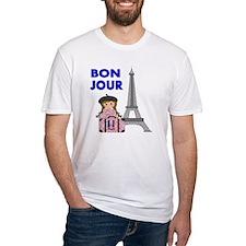 BON JOUR WITH LITTLE GIRL IN PARIS Shirt