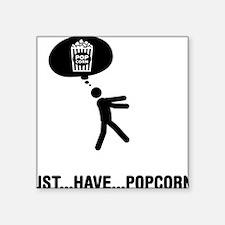 """Popcorn-A Square Sticker 3"""" x 3"""""""