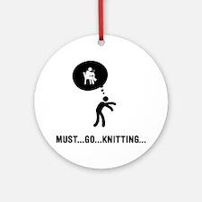Knitting-C Round Ornament