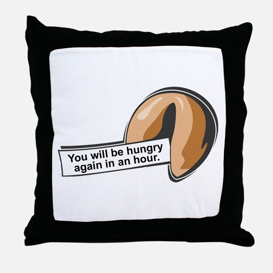 Funny Fortune Cookie Throw Pillow