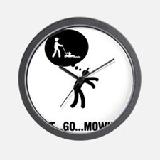 Lawn-Mowing-A Wall Clock