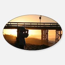 Photographer At Sunset Decal