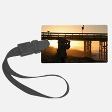 Photographer At Sunset Luggage Tag