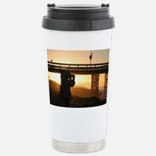 Photographer At Sunset Stainless Steel Travel Mug